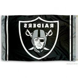OAKLAND RAIDERS FLAG 3'X5' NFL LOGO BANNER: FREE SHIPPING