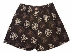 Oakland Raiders  NFL Team Logo Boxer Shorts Mens Black Print