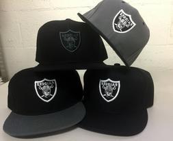 Oakland Raiders Snap Back Cap Hat Embroidered Adjustable Fla